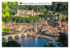 Heidelberg – Alte Brücke | Urlaubsgrüße | Echte Postkarten online versenden | MyPostcard.com