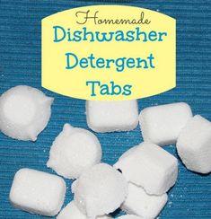 Homemade Dishwasher Detergent Tabs Recipe | http://homestead-and-survival.com/homemade-dishwasher-detergent-tabs-recipe/