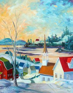 Peintres québécois - Jean-Pierre Gagnon Tableau doux temps