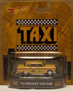 '74 CHECKER TAXI CAB * TAXI * IN STOCK * 2015 Hot Wheels Retro Case J #HotWheels #Chevrolet Hot Wheels Cars, Machine Embroidery Patterns, Diecast Model Cars, Expensive Cars, Taxi, My Ebay, Action Figures, Collectible Cars, Entertaining