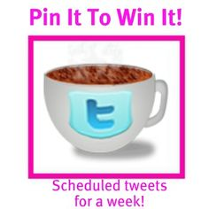 Re-pin for a chance to win! 6 daily scheduled tweets for a week!  Leave me a comment and you'll be in the running!  http://colourmefit.com/website-resources
