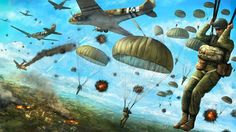 Airborne Army, Army Infantry, Sun Tzu, Military Art, Military History, Pictures Of Soldiers, Military Drawings, Action Pictures, Paratrooper