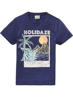 T-Shirt With Large Artwork   T-shirts ss   Boys Clothing at Scotch & Soda