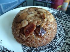 Steamed Glutinous Rice aka Lo Mai Gai (糯米鸡) - cook in a rice cooker - easy & delicious.