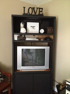 Black painted tv cabinet!!