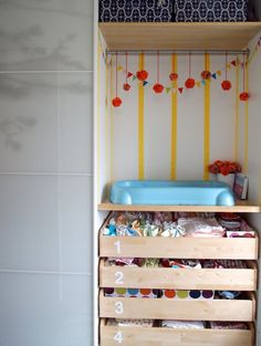 Nursery Clothing Storage - chic use of a small space. - Project Nursery
