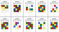 Trabajamos la atención con una colección de SUDOKUS de Colores 4×4 también en inglés