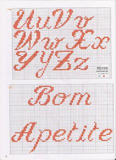 Charted Alphabet Upper & Lower U-Z