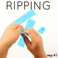 How to Teach Kids to Use Scissors by ripping paper first
