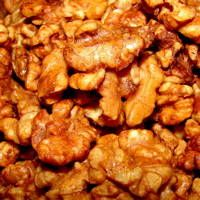 Best Sugar Glazed Walnuts Recipe!  I mix the ingredients and pour right into a resealable bag with the walnuts. Then onto parchment. Really hard not to just munch on them!