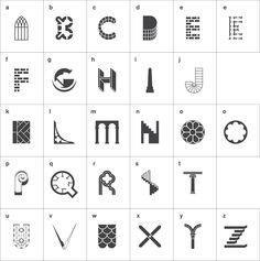 Par Maddison Graphic. Icon magazine invited us to choose something to redesign for their Rethink feature. We saw the opportunity to do something different with the Pevsner guides. We designed an alphabet of architectural elements to spell out the names of the counties. Typeface: Akzidenz Grotesk Client: Icon