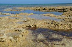 Liopetri village, rocks in the sea, Cyprus
