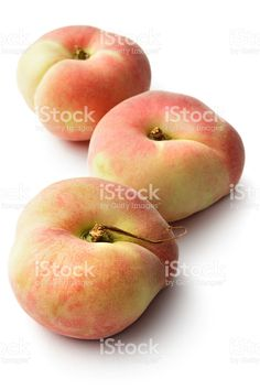 Fruit: Wild Peaches Isolated on White Background royalty-free stock photo