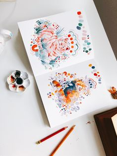 Gouache Illustrations, Illustrations And Posters, Watercolor Illustration, Watercolor Paintings, Sketchbook Inspiration, Art Sketchbook, Minimalist Bullet Journal, Art Sketches, Art Drawings