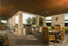 outdoor kitchen by Jane Page Design Group via Donna's Blog - A Designer's Perspective