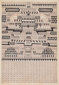 Untitled 2 at Gallery Hijinks Online Shop Textile Prints, Textile Patterns, Textile Design, Textiles, Tribal Print Pattern, Print Patterns, Fabric Rug, How To Dye Fabric, Geometric Drawing