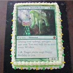 So Cool Magic: the Gathering Elemental Birthday Cake