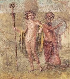 Ermafrodito e Sileno, I d.C. Museo Archeologico Nazionale, Napoli. Provenienza Casa di Cecilio Giocondo, Pompei. Cultura romana