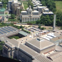 Carnegie Museum and Carnegie Mellon University viewed from the 36th floor of the Cathedral of Learning