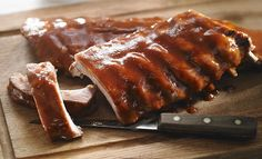 Spareribs Marinated in NAPSI-certified Maple Water Spare Ribs, Water Recipes, Meatloaf, Waffles, Seafood, Pork, Appetizers, Dishes, Cooking