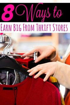 How to make money from thrift store shopping finds - The next time you're in the thrift stores, keep your eyes open! You could missing a great way to make extra cash from home! These 8 ways to earn big from thrift stores will show you how to do just that! Thrift Store Shopping, Thrift Store Crafts, Thrift Store Finds, Shopping Hacks, Crafts To Sell, Thrift Stores, Diy Crafts, Thrift Store Refashion, Online Shopping