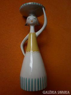 Drasche lány, tállal Ceramic Bowls, Clay Art, Art Deco, Pottery, Ceramics, Christmas Ornaments, Holiday Decor, Vintage, Home Decor
