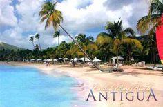 Carlisle Bay Beach postcard - Antigua & Barbuda. New on http://colnect.com/postcards