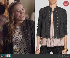 Maddie's military style jacket on Nashville.  Outfit Details: http://wornontv.net/46415/ #Nashville