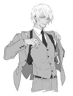 Character Inspiration, Character Art, Character Design, Conan, Detective, Anime Gangster, Demon Days, Kaito Kid, Amuro Tooru