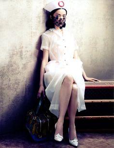 Du Juan photographed by Sharif Hamza for Vogue China