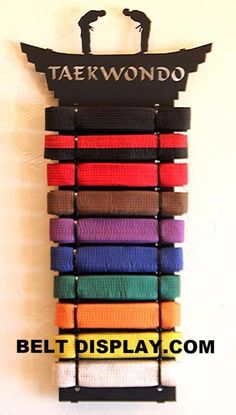 Top Karate Belt Displays, Taekwondo & Martial Arts Belt Holders & Racks for all levels. Shop the Largest Online Selection in the USA and Canada Taekwondo Belt Display, Martial Arts Belt Display, Taekwondo Belts, Karate Belts, Martial Arts Names, Martial Arts Belts, Mixed Martial Arts, Krav Maga Kids, Learn Krav Maga