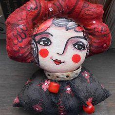 Оригинальная авторская кукла маленькая леди бюст. изготовленный и расписанный miliaart