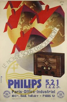 Tube Radio Blog Philips 521A (France, 1934/1935) Le monde sous chaque toit / The world under every roof
