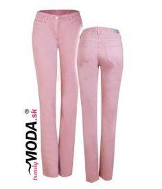 Kvalitné ružové dámske džínsove nohavice– trendymoda.sk Pajama Pants, Pajamas, Jar, Sweatpants, Fashion, Pjs, Moda, Sleep Pants, Fashion Styles