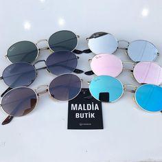 """2,914 Beğenme, 1 Yorum - Instagram'da Saat Gözlük Aksesuar Giyim (@maldiabutik): """"Son adetlerr #bay #bayan #gözlük fiyat 50 TL ÜCRETSİZ KARGOO whatsapp 0544 854 82 44 #malatya…"""" Types Of Sunglasses, Cute Sunglasses, Summer Sunglasses, Sunglasses Accessories, Round Sunglasses, Mirrored Sunglasses, Sunglasses Women, Jewelry Accessories, Sunnies"""