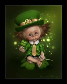 ♥ Little Design ♥ The Rat Pack, Saint Patricks Day Art, Happy St Patricks Day, Pictures To Paint, Cute Pictures, St Patricks Day Clipart, St Patricks Day Wallpaper, Graffiti, Baby Fairy