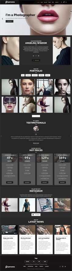 Photography persona is a wonderful responsive #WordPress theme for #photographer, blogger, #photography agency or photo studio websites with multiple homepage layouts download now➩ https://themeforest.net/item/persona-wordpress-photography-portfolio-and-blog-theme/19225817?ref=Datasata