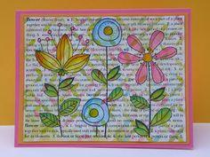 Hero Arts flower text card
