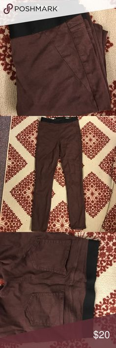 Gap Jeggings Earthy maroon color. Super comfy, worn under ten times with no wear. Elastic band on top with two back pockets. Really great for the days you don't want to wear jeans but still look great! GAP Pants Skinny