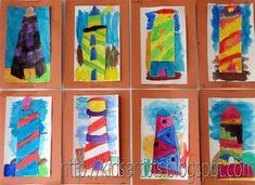 Kids Artists: Lighthouses along the coast