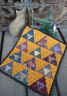 Wonderful Mini pyramids quilt by Marian Edwards                                                                                                                                                                                 More