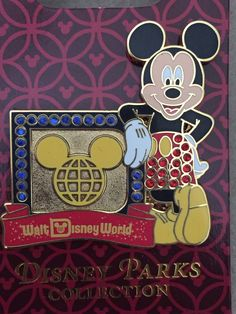 Walt Disney World Mickey Jeweled Classic Logo Pin