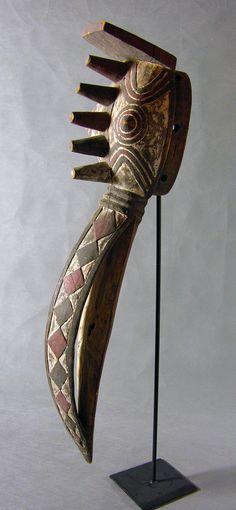 Africa | Oiseau Nuna Mask from Bwa Gurunsi people of Burkina Faso | Wood, pigment and patina | Mid 20th century
