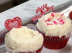 Red Velvet Cupcakes with Creamy Vanilla Icing