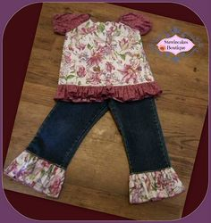 Sugar Plum Fairy's Two Piece Upcycle Pant Set Size by stewiecakes, $30.00