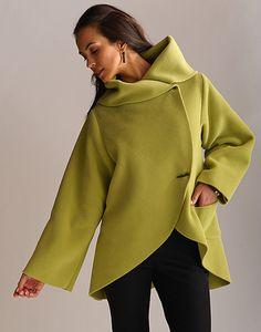 Pretty great looking fleece. {Pistachio Fleece Rim Jacket by Lynn Mizono @ Artful Home}