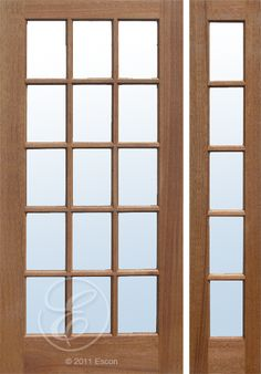 Exterior solid douglas fir dual pane 10 lite french door 3 for Single french door exterior