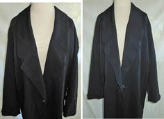 Oversize Vintage Linda Richards Coat Wool Soft Maxi Slouchy Draped Slim Grunge One Button Made in the  USA by backtocapri on Etsy https://www.etsy.com/listing/172966293/oversize-vintage-linda-richards-coat