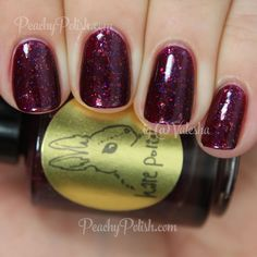 HARE polish Poison Pomegranate   The Abduction Of Persephone Collection   Peachy Polish - oh my god...#red