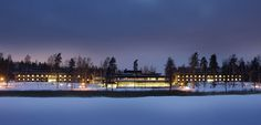 LÅNGVIK Congress Wellness Hotel seen from the sea on winter time.  http://www.langvik.fi/en